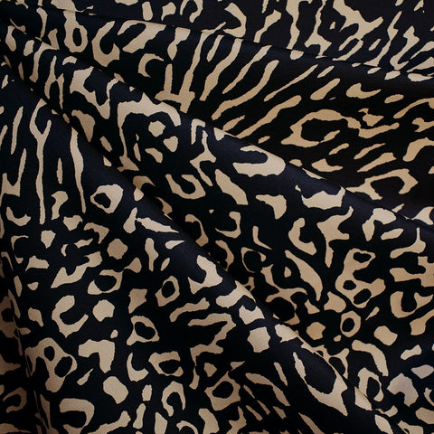 Abstract Animal Print Stretch Bottom Weight Black/Camel