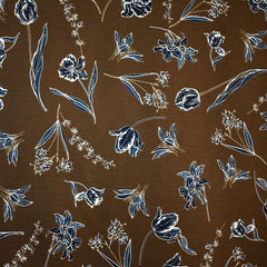 Botanical Floral Stretch Bottom Weight Sepia - Sold Out - Style Maker Fabrics