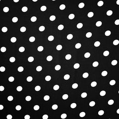 Polka Dot Rayon Twill Shirting Black/White - Fabric - Style Maker Fabrics