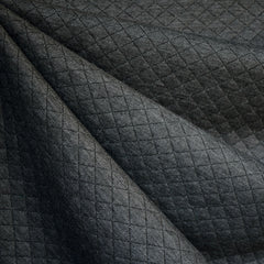 Diamond Quilted Double Knit Charcoal—Preorder - Fabric - Style Maker Fabrics