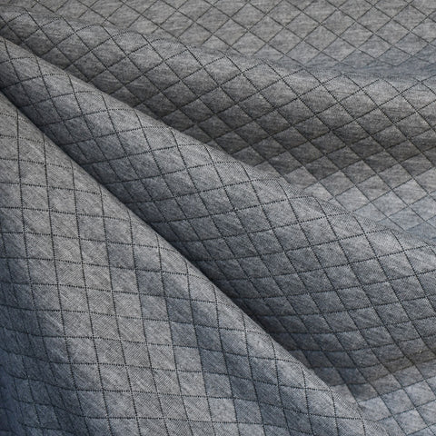 Diamond Quilted Double Knit Grey
