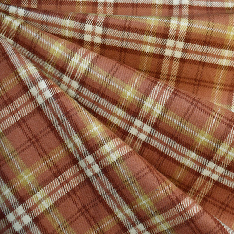 Cozy Cotton Flannel Tartan Plaid Terracotta SY