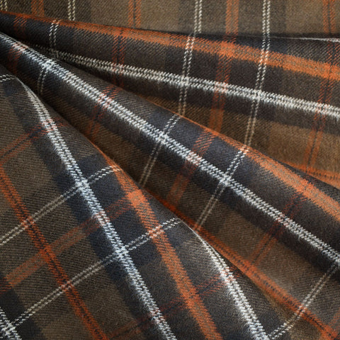 Cozy Cotton Flannel Tartan Plaid Chocolate