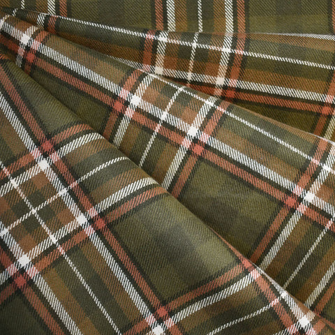 Cozy Cotton Flannel Tartan Plaid Olive—Preorder