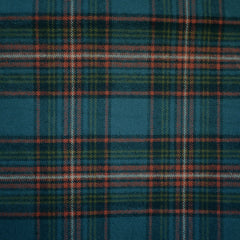 Cozy Cotton Flannel Tartan Plaid Teal—Preorder - Fabric - Style Maker Fabrics