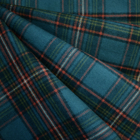 Cozy Cotton Flannel Tartan Plaid Teal