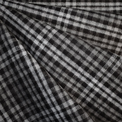 Cozy Cotton Flannel Mini Tartan Plaid Charcoal