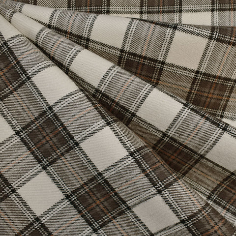 Cozy Cotton Flannel Square Plaid Latte—Preorder