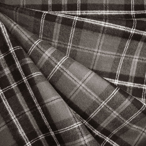 Cozy Cotton Flannel Tartan Plaid Charcoal