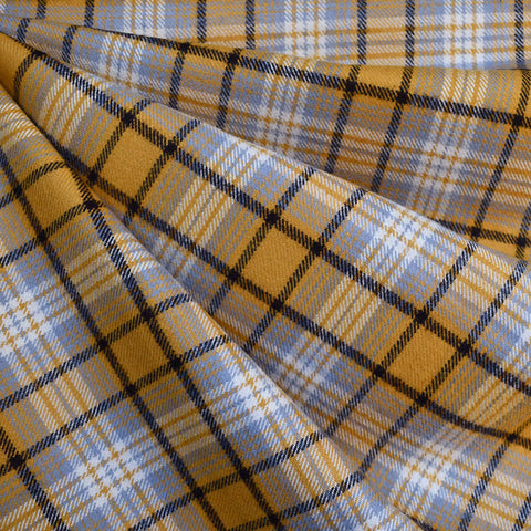 Cozy Cotton Flannel Tartan Plaid Mustard—Preorder