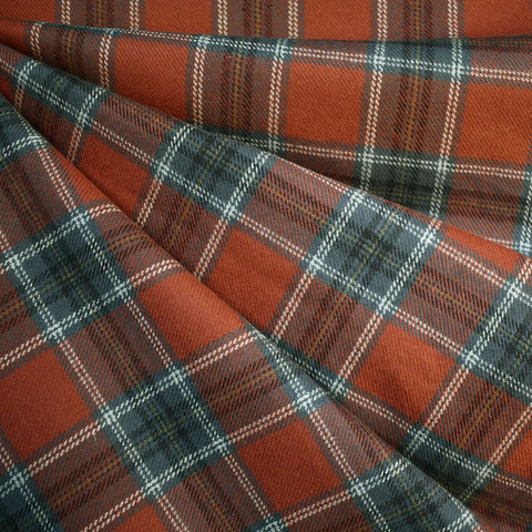 Cozy Cotton Flannel Square Plaid Rust—Preorder