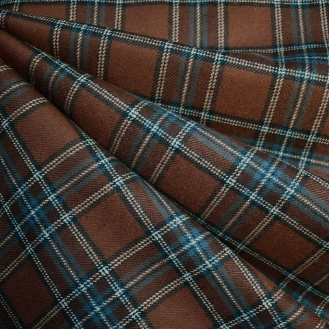 Cozy Cotton Flannel Square Plaid Chocolate