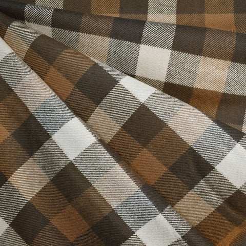 Cozy Cotton Flannel Grid Plaid Brown
