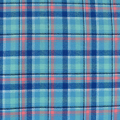 Mammoth Flannel Mini Bold Plaid Turquoise/Blue - Fabric - Style Maker Fabrics