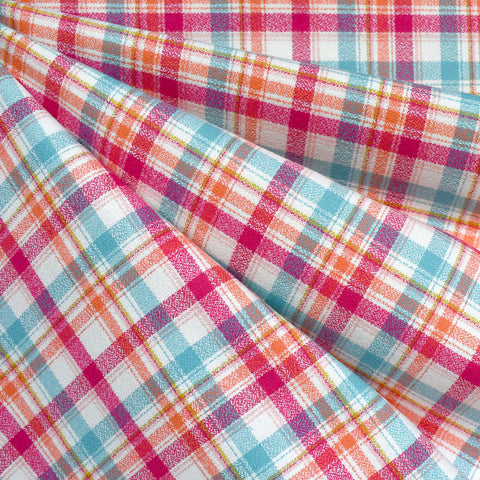 Mammoth Flannel Mini Bold Plaid Fuchsia/Orange—Preorder