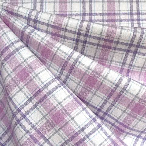 Mammoth Flannel Mini Layered Plaid Lavender/Grey