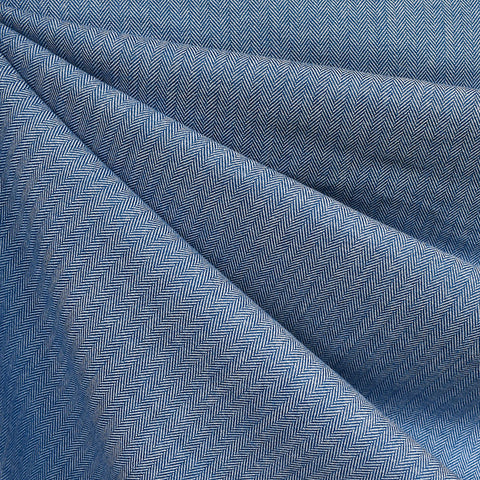 Shetland Flannel Mini Herringbone Denim