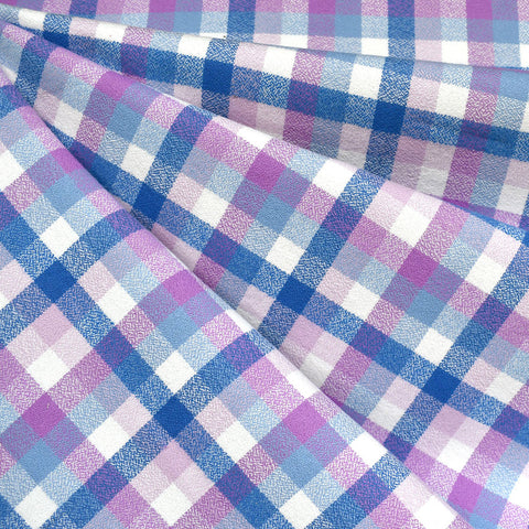 Mammoth Flannel Mini Check Plaid Orchid/Blue—Preorder