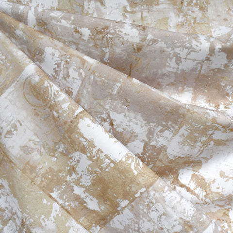 Warehouse District Distressed Blocks Cotton Poplin Natural