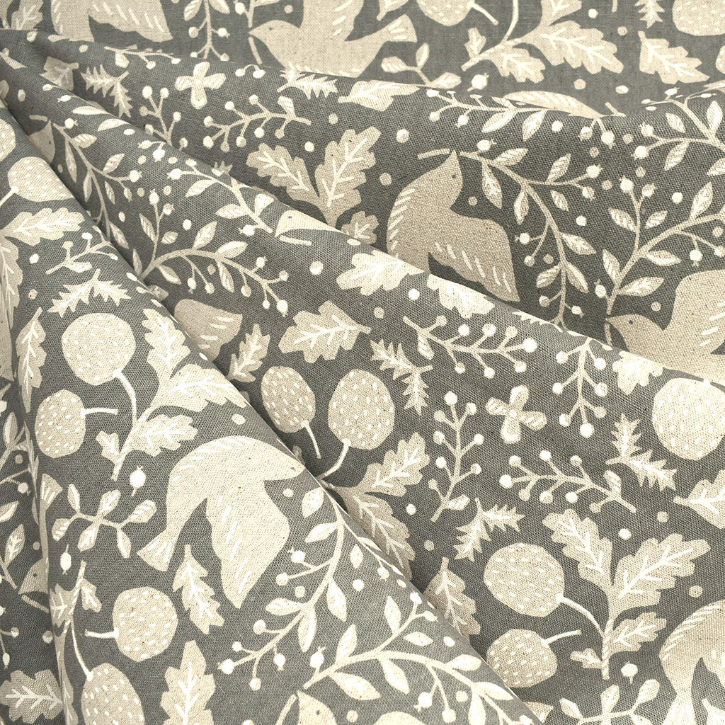 Japanese Peaceful Dove Canvas Grey - Fabric - Style Maker Fabrics