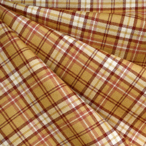 Cozy Cotton Flannel Tartan Plaid Gold