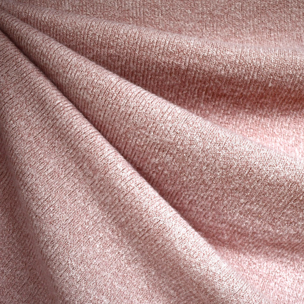 Dreamy Soft Brushed Sweater Knit Solid Blush—Preorder - Fabric - Style Maker Fabrics