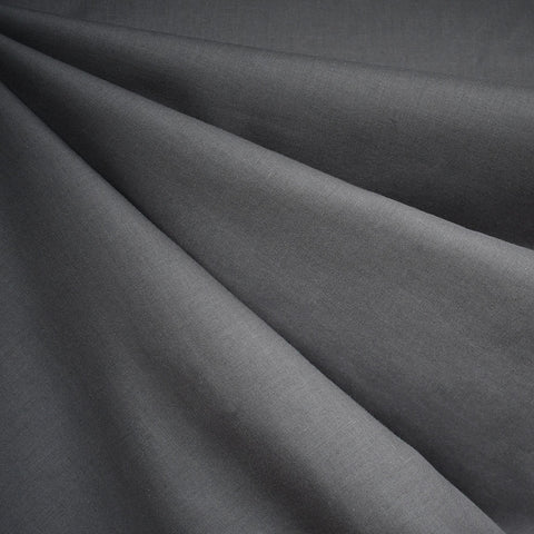 Cotton Voile Solid Charcoal