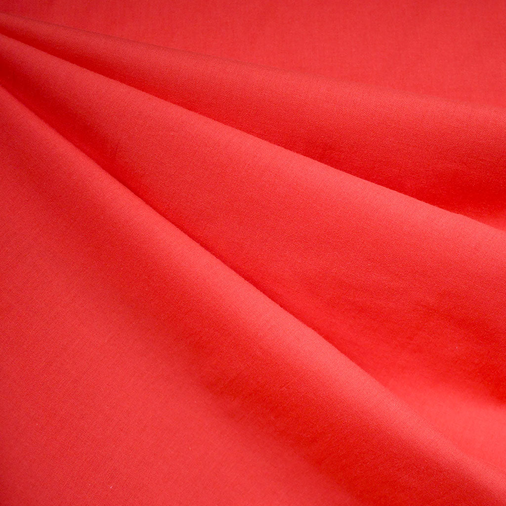 Cotton Voile Solid Cherry - Fabric - Style Maker Fabrics