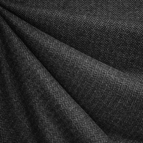 Soft Herringbone Ponte Knit Black/Grey