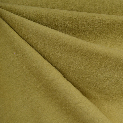 Washed Crinkle Cotton Solid Citron