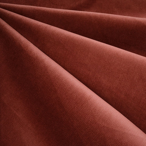 Soft Stretch Micro Wale Corduroy Solid Brick