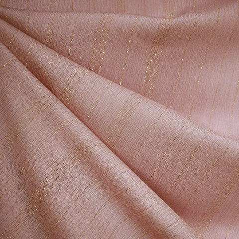 Metallic Stripe Rayon Crepe Rose/Gold