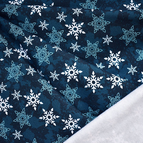 Winter Snowflake Sweatshirt Fleece Navy