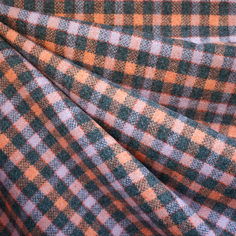 Cozy Check Plaid Wool Flannel Charcoal/Lavender