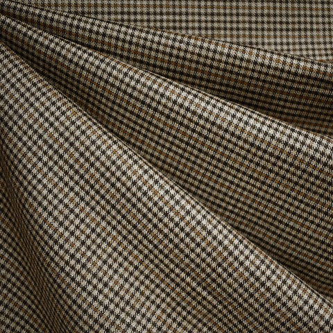 Glen Plaid Wool Suiting Brown/Camel