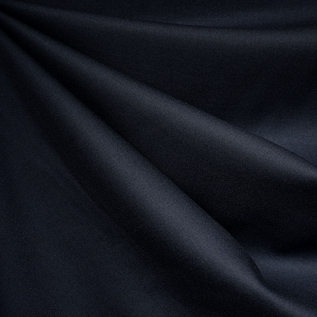 Designer Wool Gabardine Solid Navy SY - Sold Out - Style Maker Fabrics