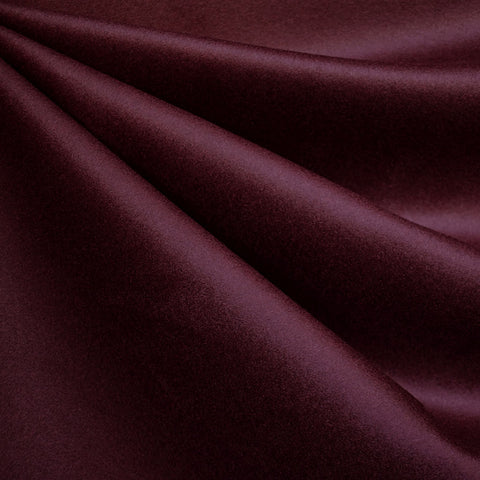 Designer Cashmere Wool Blend Coating Wine
