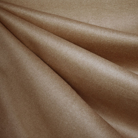 Designer Cashmere Wool Blend Coating Camel