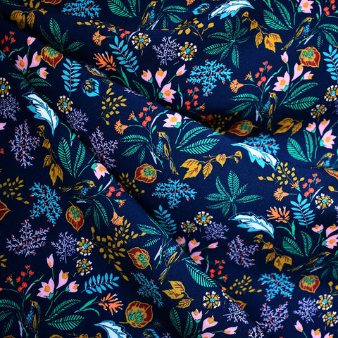 Atelier Jupe Secret Garden Rayon Navy/Teal