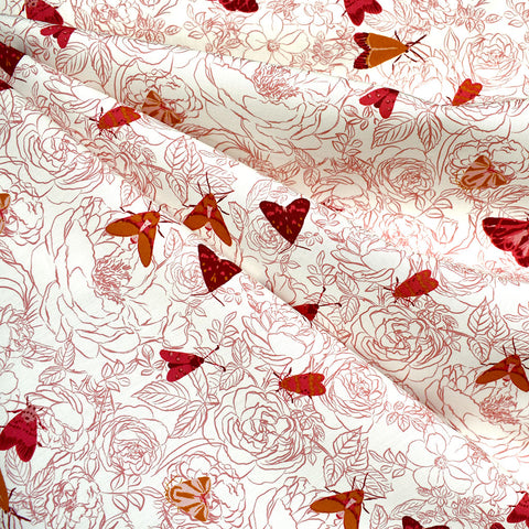 Kismet Cloak & Petal Sketch Floral Premium Cotton Vanilla