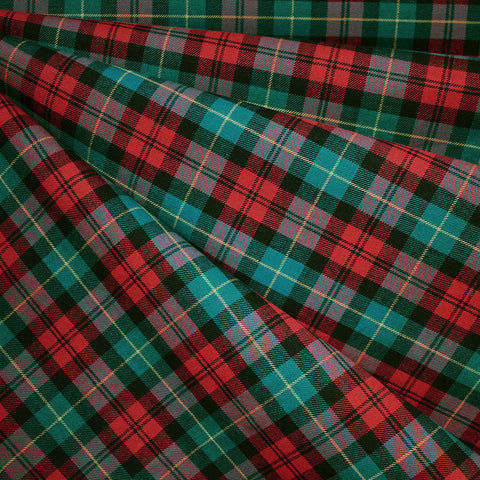 Holiday Tartan Plaid Cotton Shirting Red/Emerald