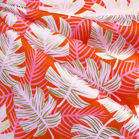 Florida Metallic Shade Palms Cotton Fire