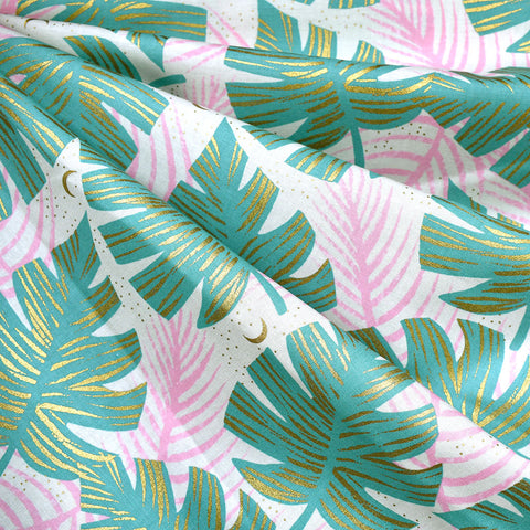 Florida Metallic Shade Palms Cotton Water