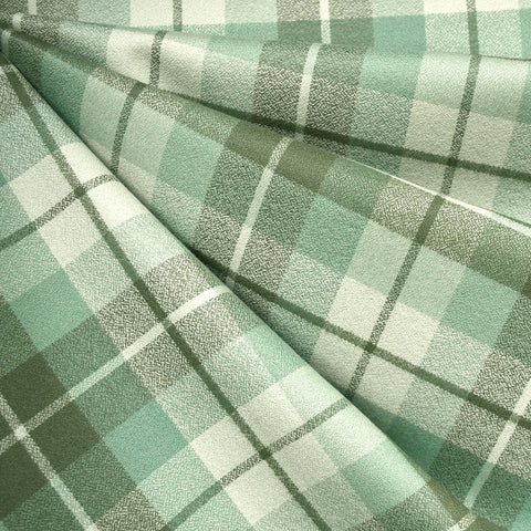 Organic Mammoth Flannel Tonal Plaid Sage