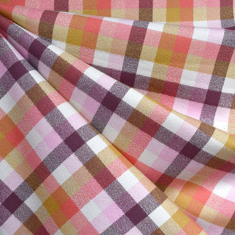 Organic Mammoth Flannel Check Plaid Pink/Plum
