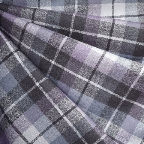 Organic Mammoth Flannel Tonal Plaid Lavender