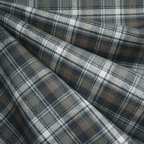 Organic Mammoth Flannel Layered Plaid Grey/Taupe
