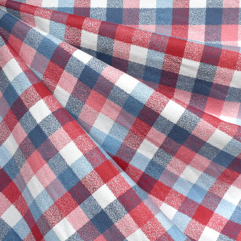 Organic Mammoth Flannel Check Plaid Red/Blue