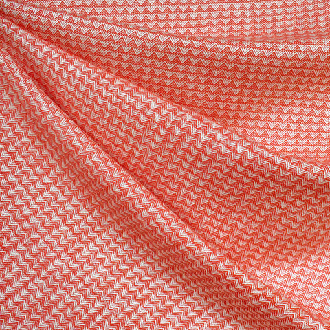 Warp & Weft Triangle Woven Shirting Warm Red