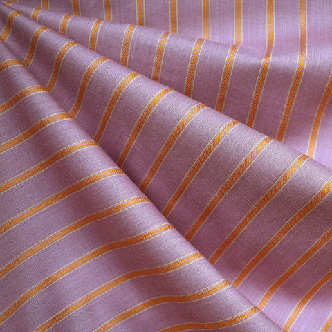 Warp & Weft Yarn Dyed Stripe Shirting Lilac